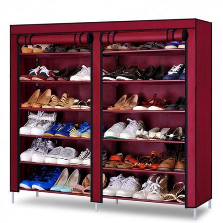 rangement double chaussure rose fuschia