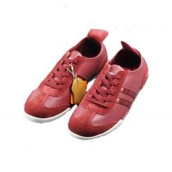 tennis cuir KINETIX rouge