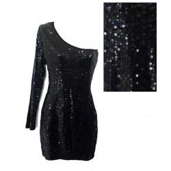 robe noir sequin F21