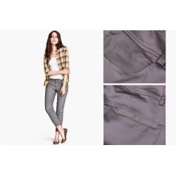 pantalon slim gris fonce LA BASIQUE