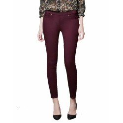 pantalon slim bordeau JEGGING