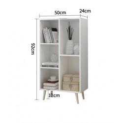 05.18meuble scandinave multifonction melamine 5 cases blanc