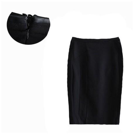 jupe crayon mi long noir target collection. Black Bedroom Furniture Sets. Home Design Ideas