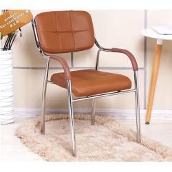 chaise capitonne avec accoudoir  pieds metallique