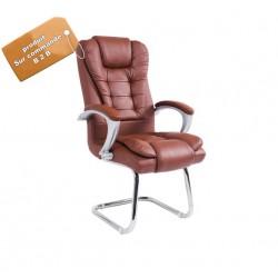 fauteuil de bureau en tissu  pieds en acier