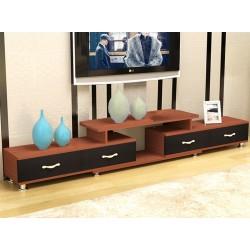 meuble tv etirable 1 porte 2 tiroir