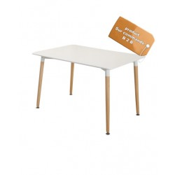 B2B Table  multifonction rectangulaire design scandinave blanc