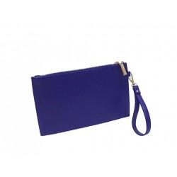 pochette bleu avec fermeture LINEA