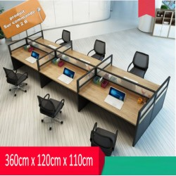 B2B table de bureau simple 6 poste effet neutre