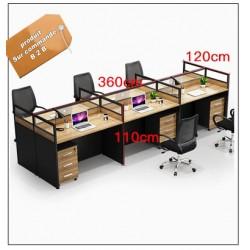 B2B table de bureau avec tiroir 6 poste effet neutre