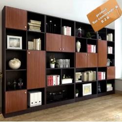 B2B meuble bibliotheque de bureau luxueux 4 modules