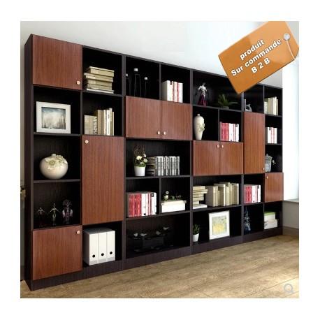 meuble bibliotheque de bureau luxueux 4 modules