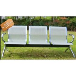 B2B chaise d'attente en acier inoxydable 3 place