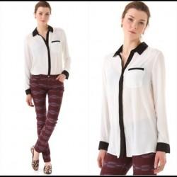 blouse blanc casse LA BASIQUE