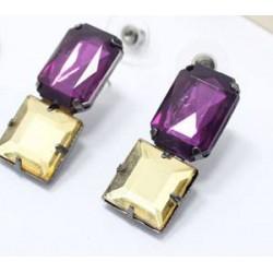 boucle plate duo violet et doree