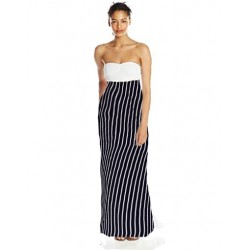 robe bustier maxi zigzag noir  VANITY