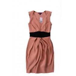 robe rose bande noire F21