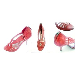 sandale BLACK MARKET rouge corail