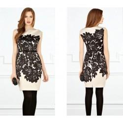 robe sm saumon et noir