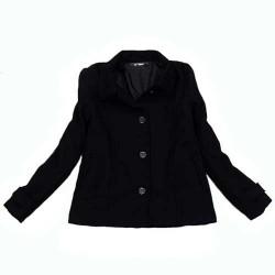 veste noir laine LA BASIQUE