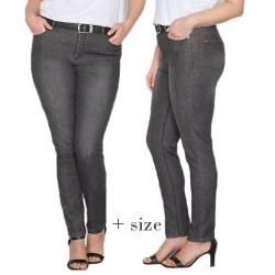 pantalon jean gris fonce