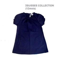 mini robe bleu nuit col rond avec poche oblique 3SUISSES COLLECTION