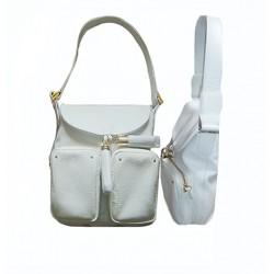 sac en cuir blanc LE TANNEUR
